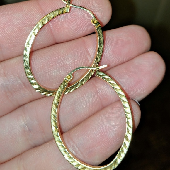 c57f9258f jcpenney Jewelry | Solid 10k Gold Large Hoop Earrings | Poshmark